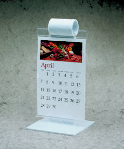 White Speckled All Plastic Menu-Roll